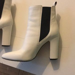 Vince Camuto white booties